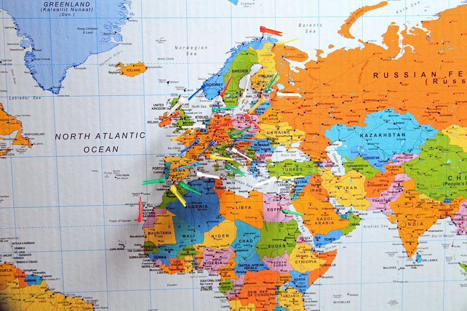 Free photo Flag Country Flags And Pennants Pins Map - Max Pixel - pins on a map