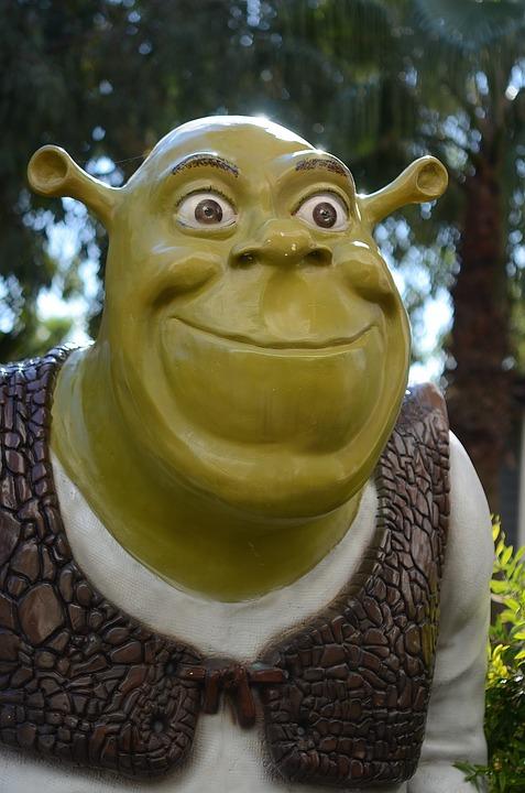 Cute Cartoon Face Wallpaper Free Photo Mouth Alien Monster Green Troll Martian Shrek