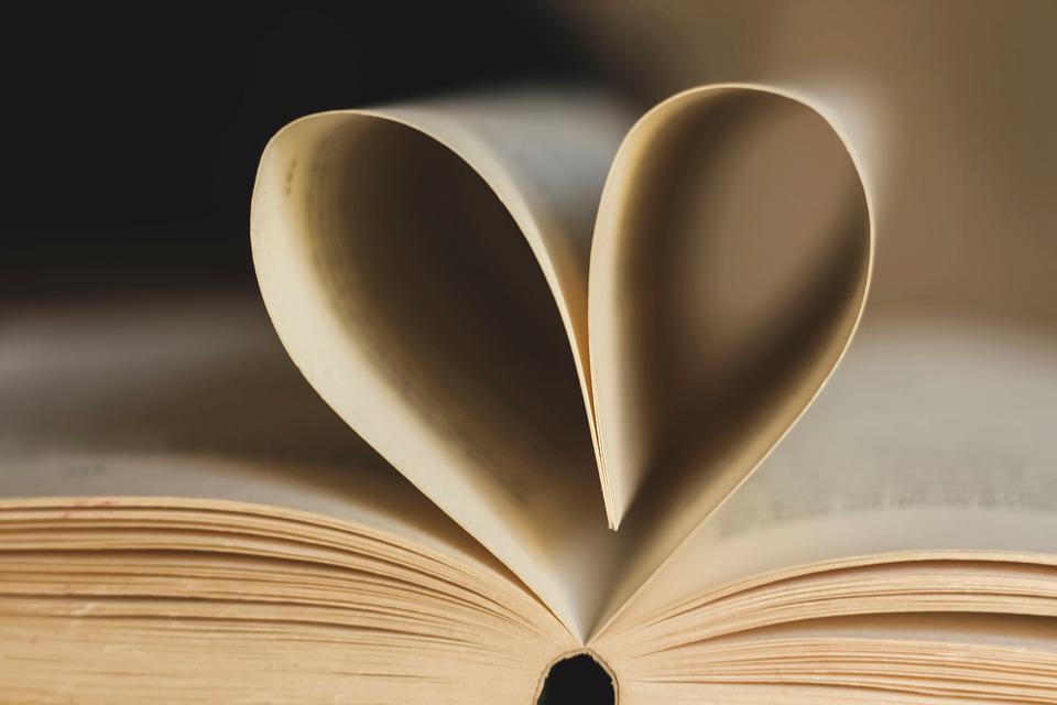 Free photo Open Book Page Book Paper Read Pages Heart - Max Pixel