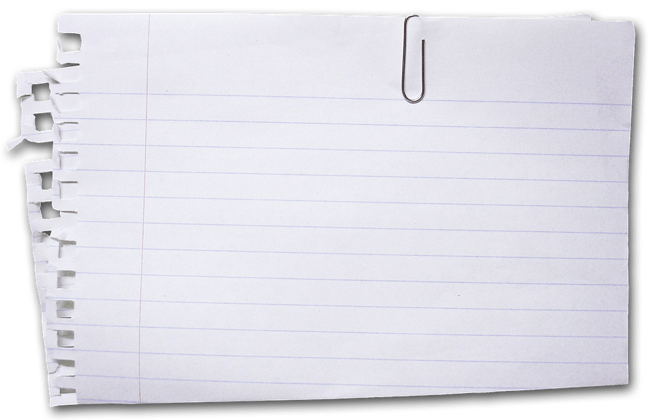 paper with lines to write on