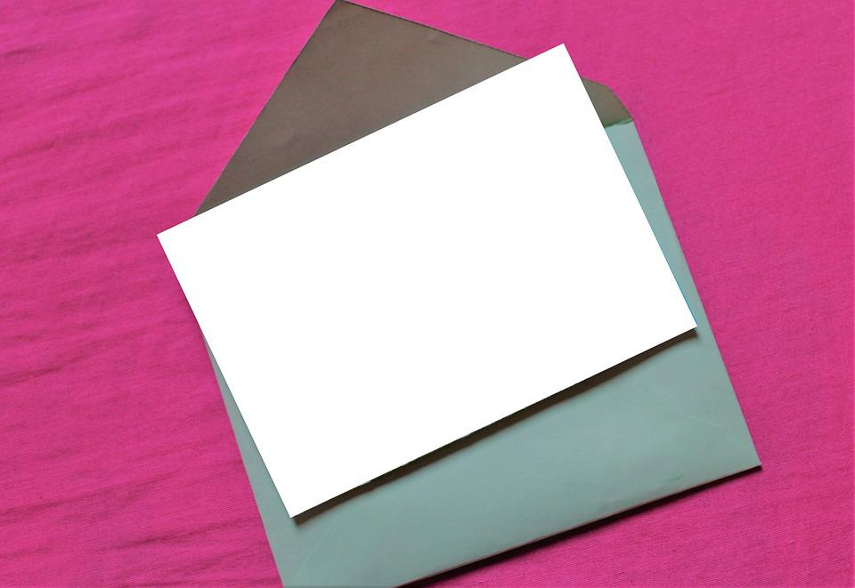 Free photo Template Empty Paper Envelope Blank Document - Max Pixel