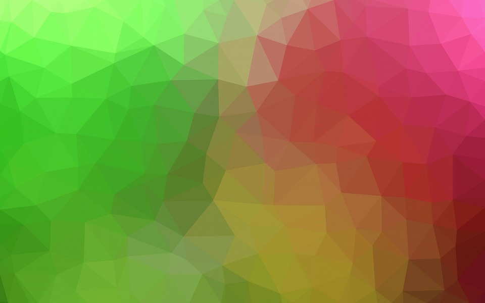 Free photo Yellow Polygon Background Pink Green Triangles - Max Pixel