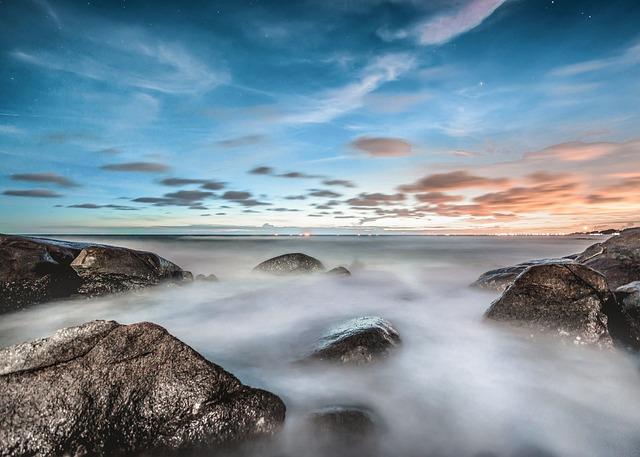 Snow Wallpaper Iphone Free Photo Foggy Water Mist Ocean Fog Beach Nature Coast