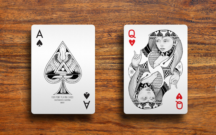 Four Point Playing Cards Design inspired by Design - Max Playing Cards