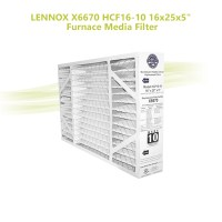 "LENNOX X6670 HCF16-10 16x25x5"" Furnace Media Filter"