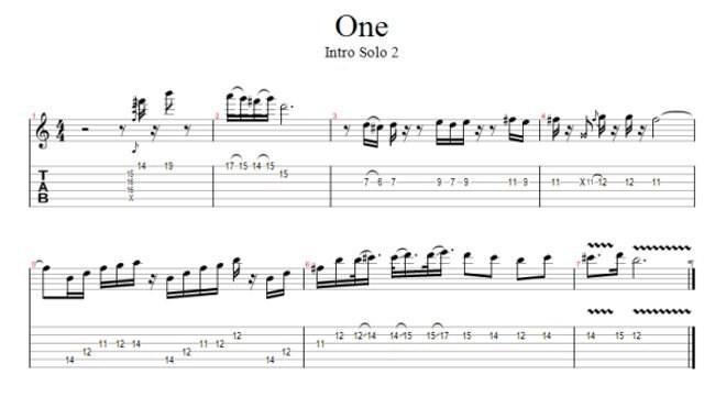 One (Metallica) Free Guitar Pro Tab