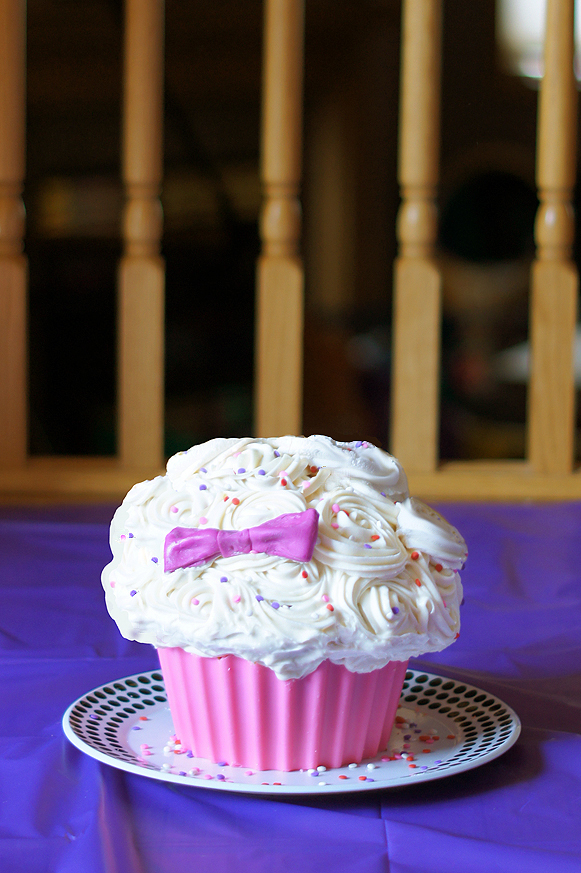 Giant Cupcake Smash Cake and First Birthday Party Mayhem in the
