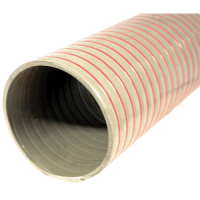 "Flexible Heavy Duty PVC 6"" hose  Supplied in 15ft lengths"