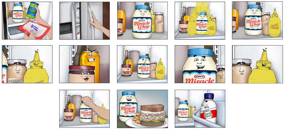 Illustrations  Travis Maynard - commercial storyboards