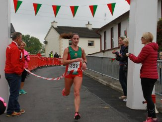 A unique victory for Norah Newcombe - first overall in the 6th Breaffy 10k