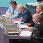 Mr Greenhalgh with Boris Johnson, Met Commissioner Sir Bernard Hogan-Howe and deputy Commissioner Craig Mackey