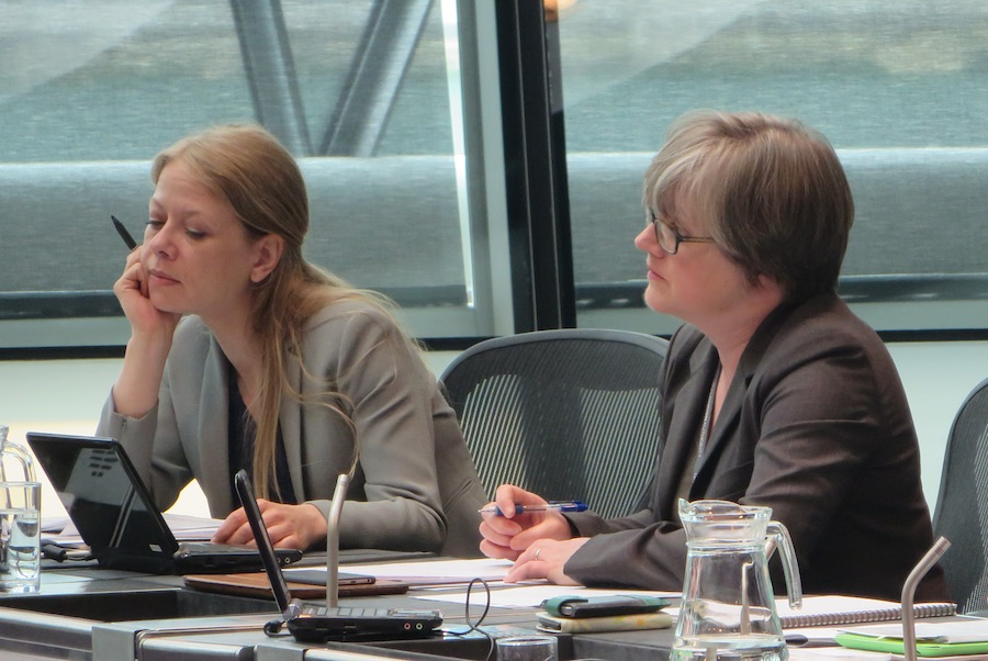 """Caroline Russell (Right) says Mr Khan's promised review is a """"sham"""""""