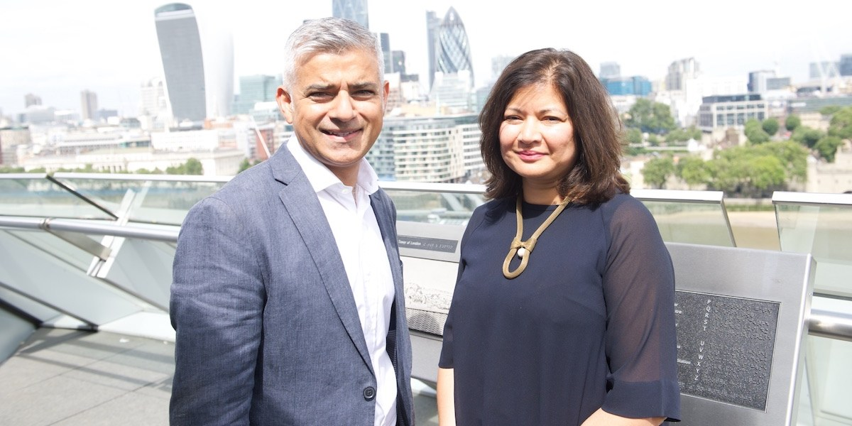 London Mayor Sadiq Khan and newly appointed deputy Shirley Rodrigues.