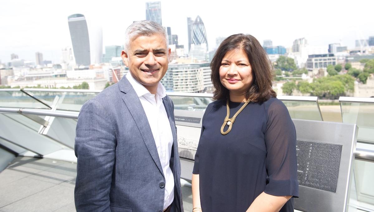 London Mayor Sadiq Khan and newly appointed deputy Shirley Rodrigues.