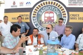 Mazatlecos se suman a Radiotón para juntos lograr cruces ferroviarios seguros