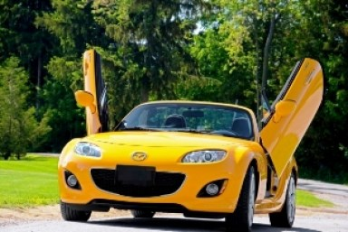 Gull Wing Miata as Photographed by Larry Velman