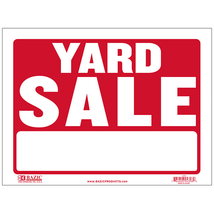 Yard Sale Signs-Cheap Plastic Signs-Wholesale-Bulk Pricing