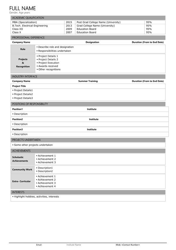 simple resume sample docx