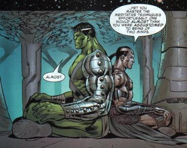 Hulk Meditating