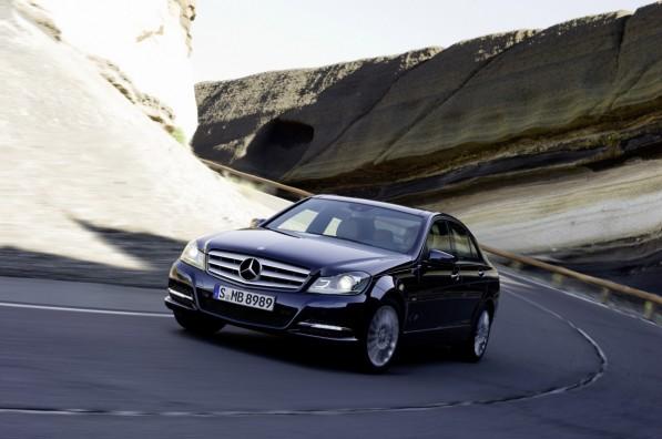 2012 C Class Sedan 01 medium 597x396 Official: 2012 Mercedes Benz C Class gets a facelift; four cylinder option
