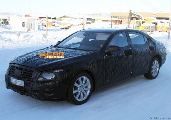 2012 SClass 05 597x419 2012 S Class Spied Testing on Ice