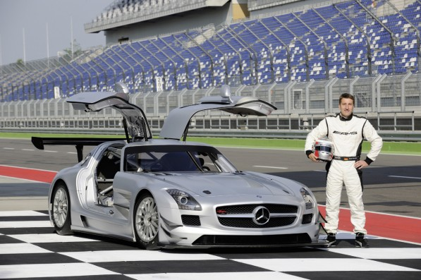 78951114473776048403210c885043 597x397 SLS AMG GT3 tearing through its testing phases