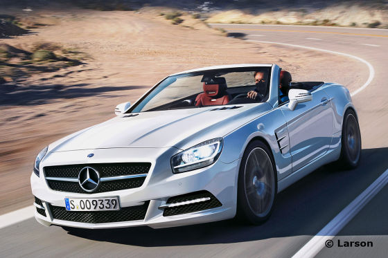 mercedes benz SL rendering illustration Next Gen Mercedes Benz SL long overdue