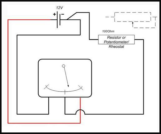 57 Chevy Fuel Gauge Wiring circuit diagram template