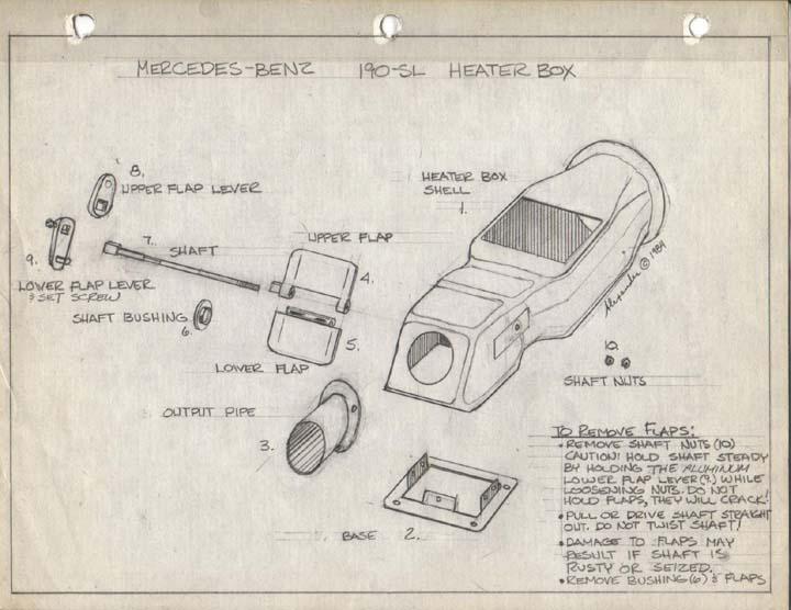 Mercedes-Benz Ponton Heater Box Repair III © wwwmbzpontonorg