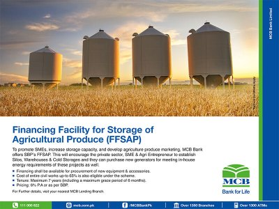 MCB Bank Pakistan | Business | Sbp Refinancing Products