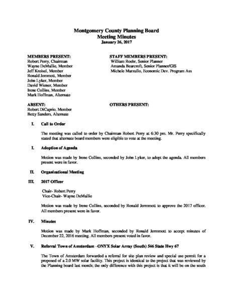 Montgomery County Planning Board meeting Minutes for January 27