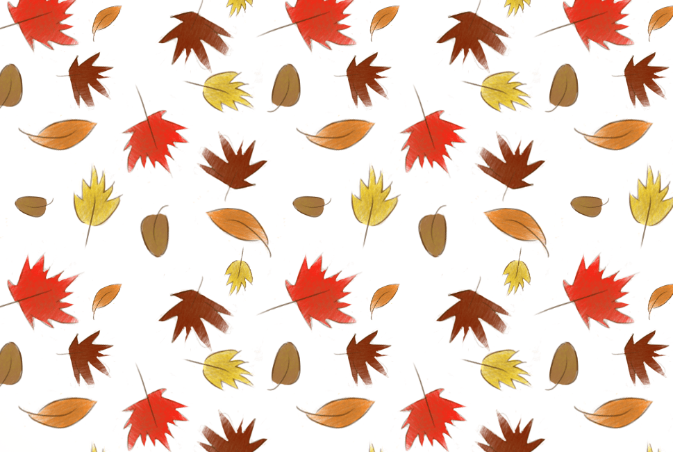 Fall Wallpaper Fall Leaves Pattern Maddy Beaupr 233 Illustration