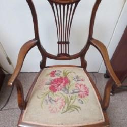 F 578 Edwardian Mahogany Chair Inlaid Mccarneys Furniture