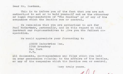 McCartney Times Pre-Breakup Letter Archives - McCartney Times