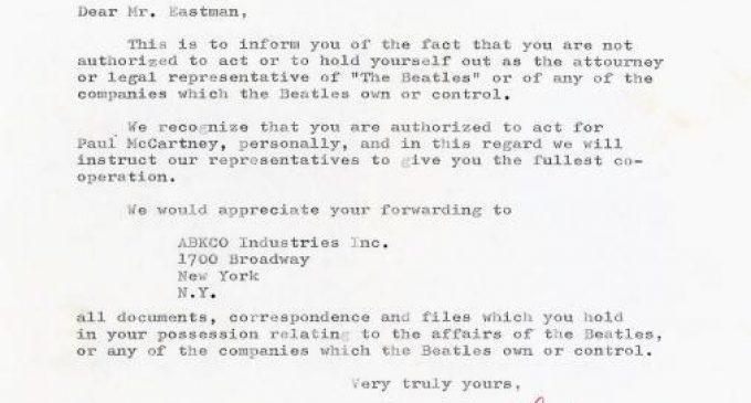Beatles\u0027 Pre-Breakup Letters on Sale for $550,000 \u2013 Rolling Stone