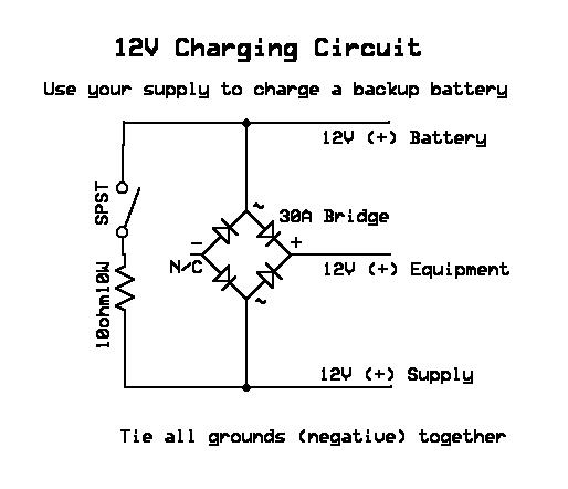 12v battery backup circuit