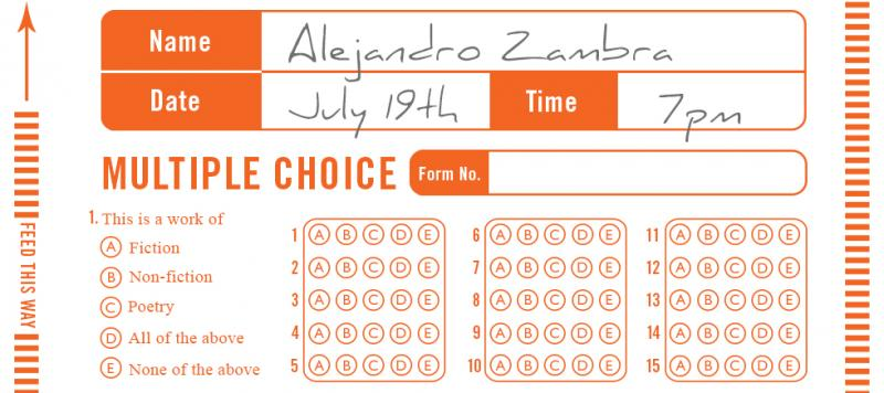 Multiple Choice An Evening with Alejandro Zambra and John Wray