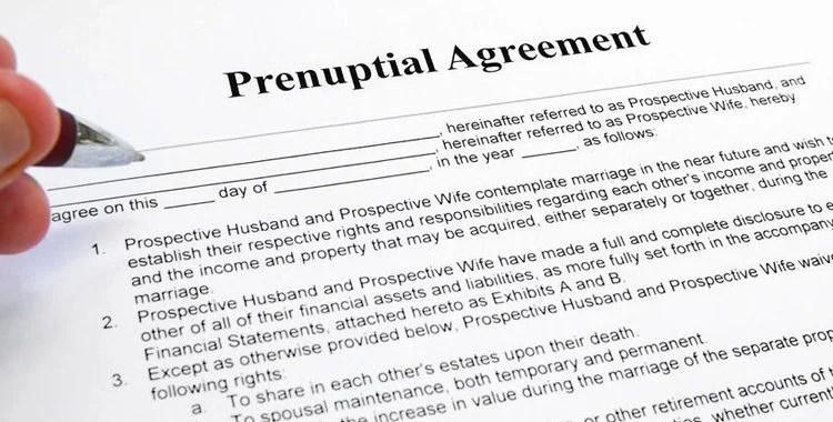 Prenuptial Agreement Template Costumepartyrun