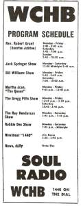 1967 WCHB 1440 Line-Up (Detroit)