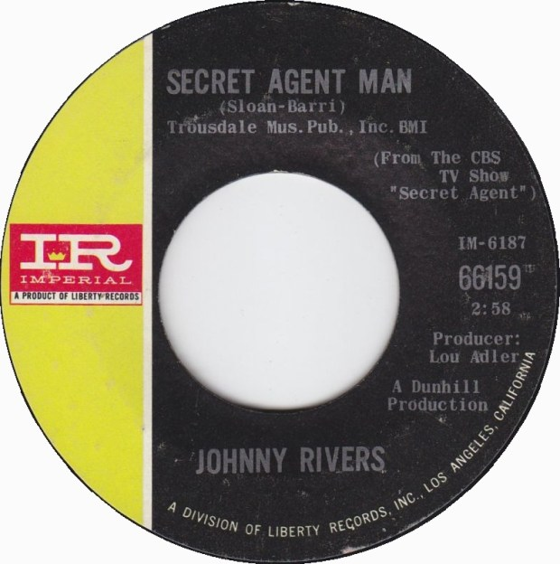 Secret agent man johnny rivers imperial records 1966