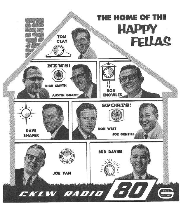 THE CKLW ;RADIO 8-0' LINEUP, 1964