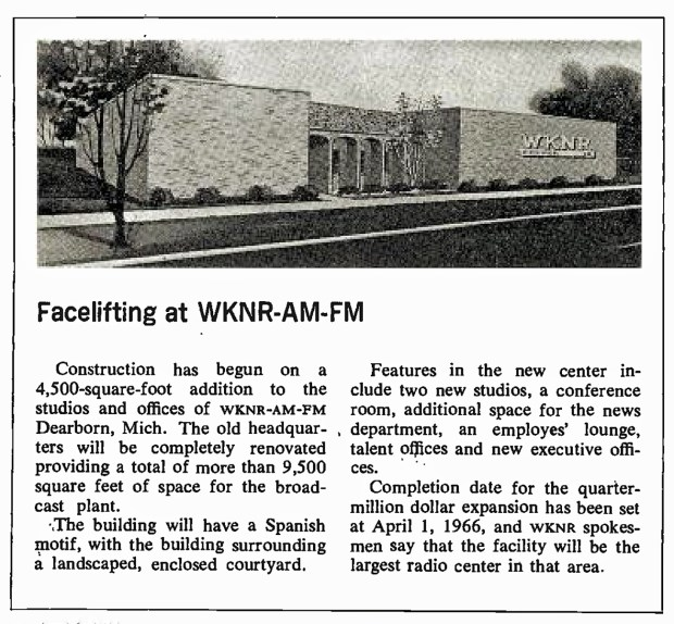 FROM THE BACK-PAGES OF 'BROADCASTING' MAGAZINE: WKNR (Detroit) November 29, 1965 (click image 2x for largest view)