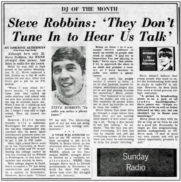 Detroit_Free_Press_Sun__Oct_22__1967_WKNR_Steve_Robbins_DJ