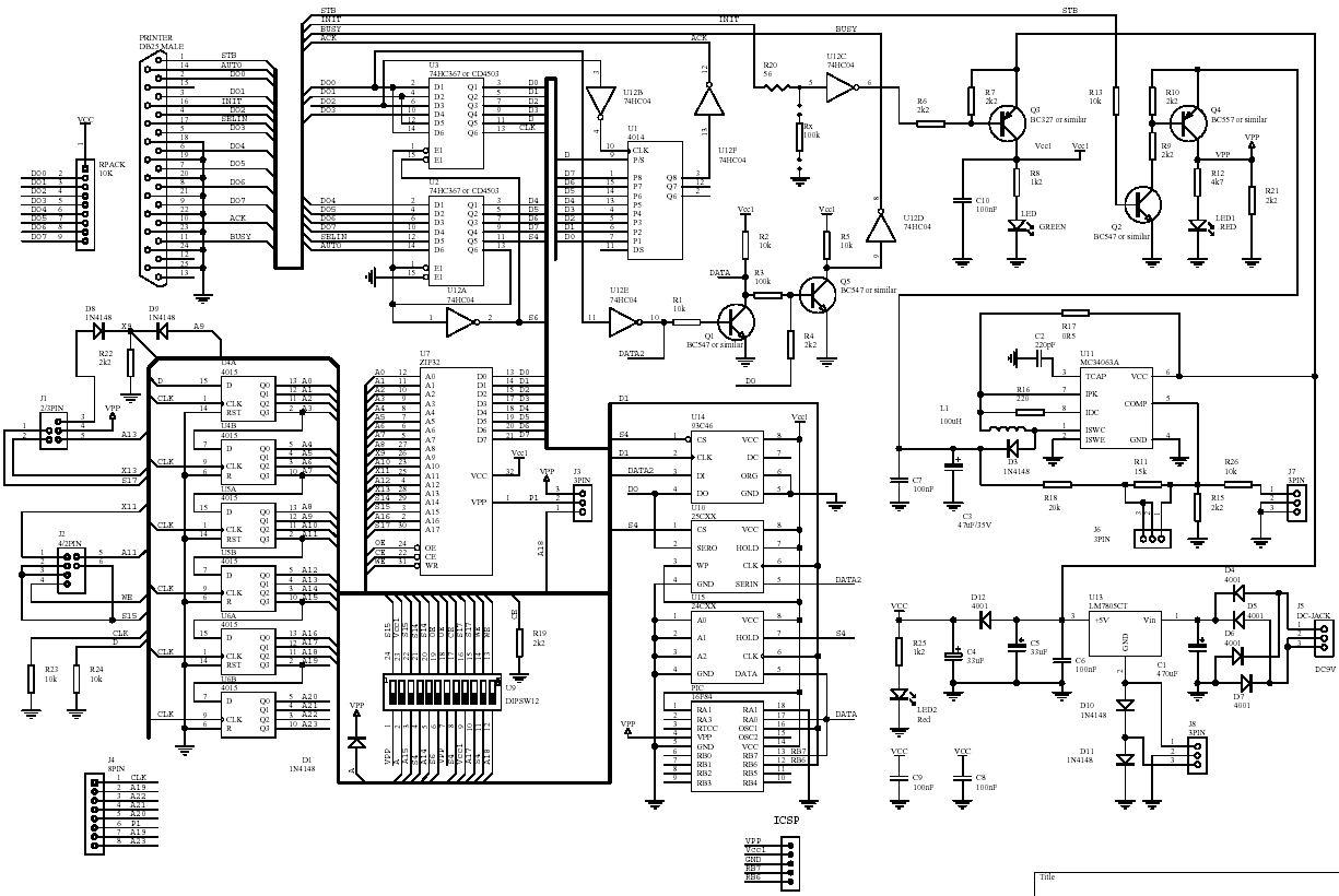 schematic hex pcb