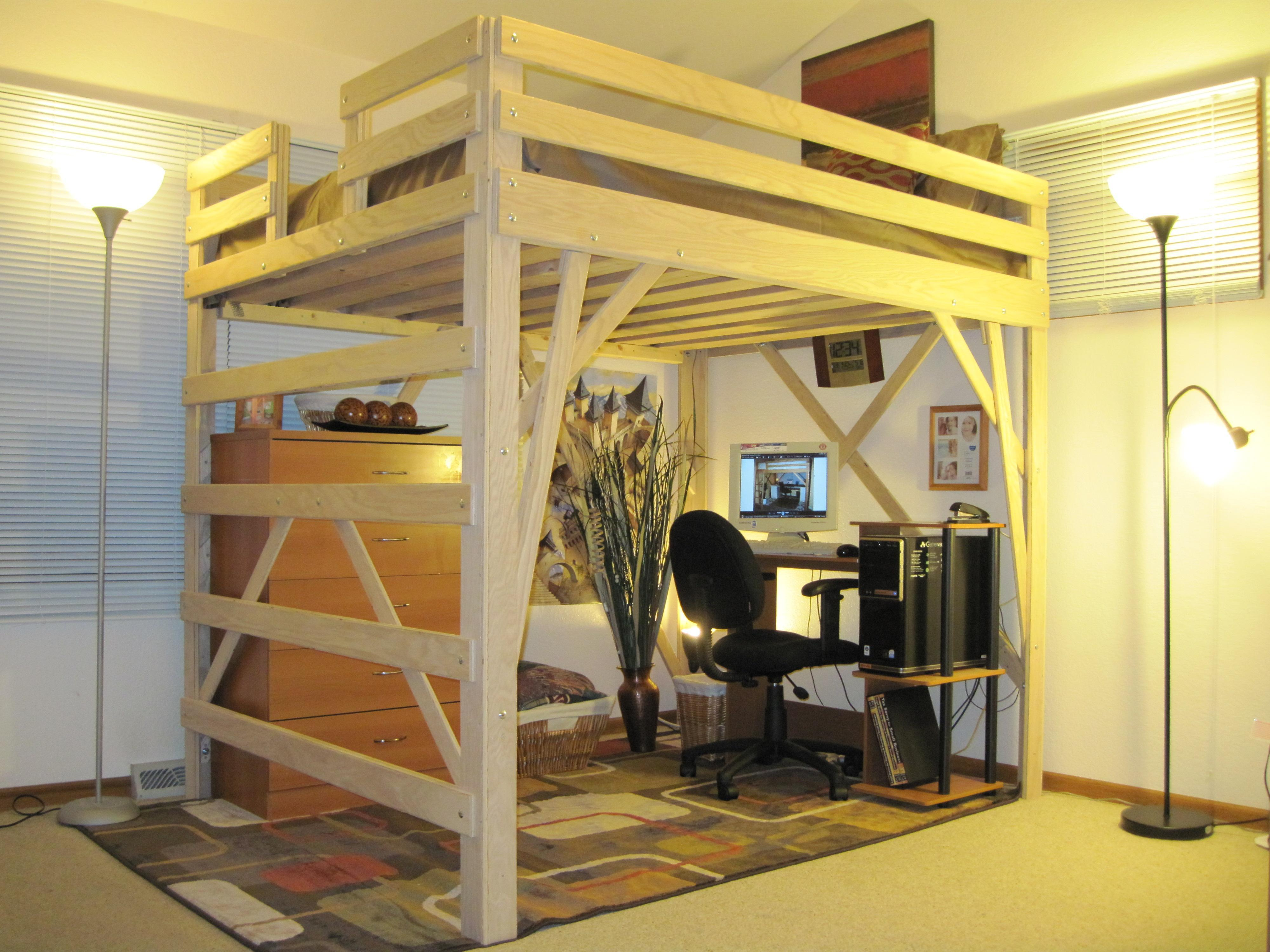 Plywood Loft Bed