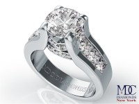 Engagement Ring -Modern Bridal Set Diamond Engagement Ring ...