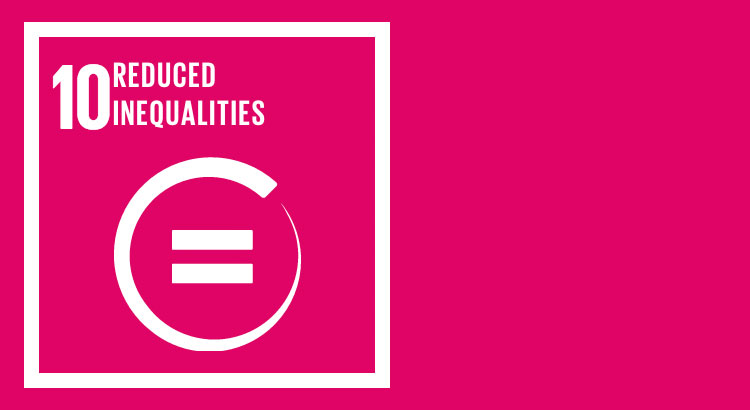SDG 10 - Reduce inequality in people, within and among countries