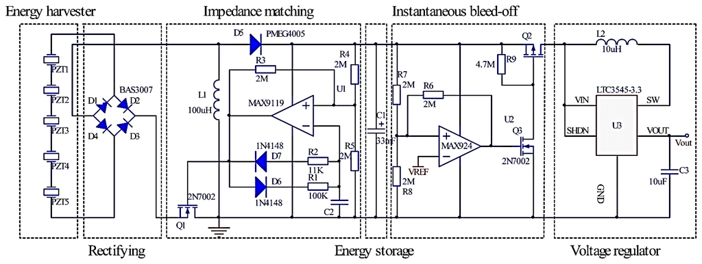 piezoelectric energy harvester and power conditioning circuit html