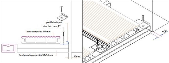Principes d\u0027utilisation des lames composite MDSA-France - Epaisseur Lambourde Terrasse Bois