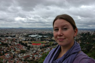 Megan on a Tana hilltop